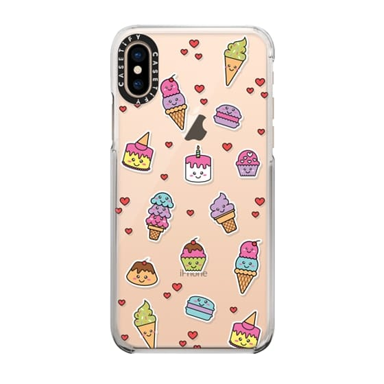 Super adorable kawaii Japanese style deserts in a sticker format on this very cute case from Casetify.