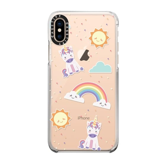 Kawaii Unicorn phone case with rainbows and suns - i love their sweet little faces