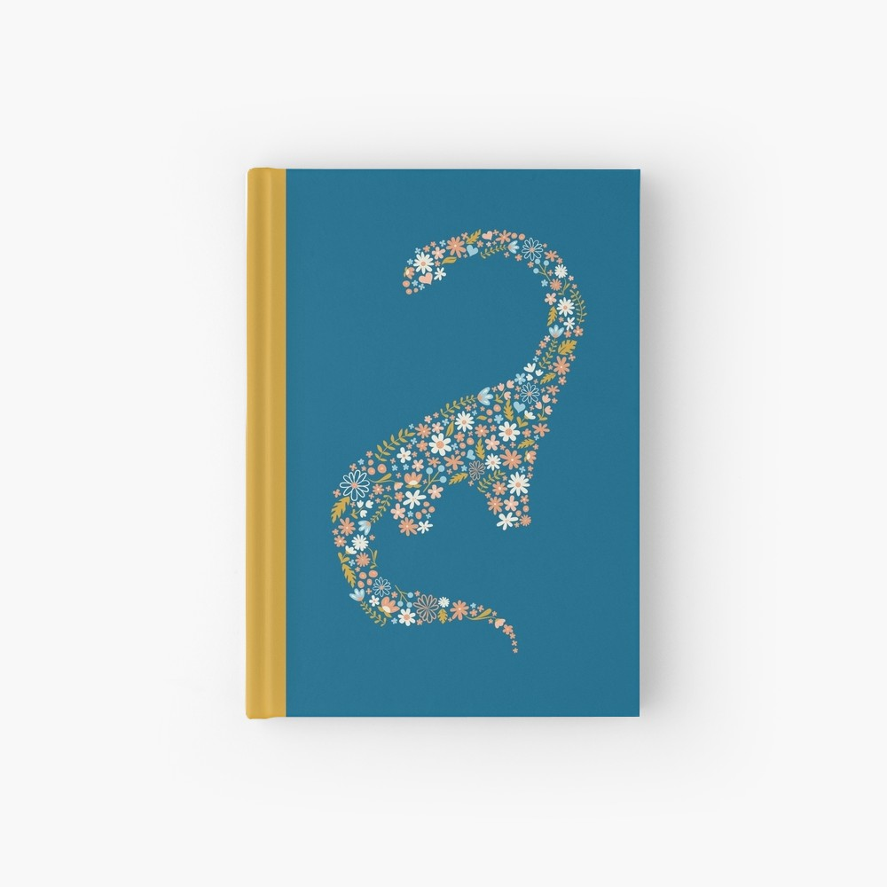 Floral Dino Hardback Journal durable and beautiful book to keep your journal or your latest illustration