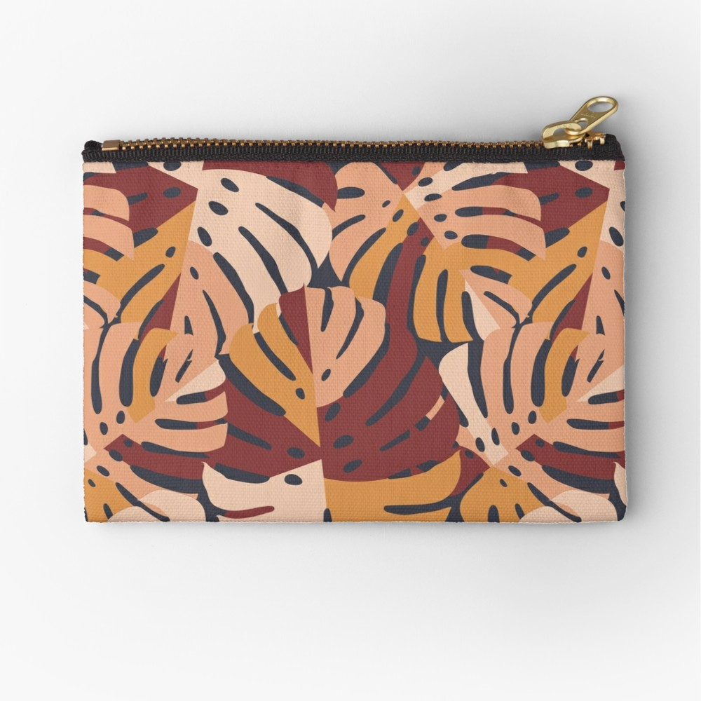 Bold and deep moody color palette with a blush pink, burgundy, and gold color palette that is sure to fit in nicely with color block styles this fall. Zipper pouch can be used as a small clutch purse and when they are this stylish it had to say no.