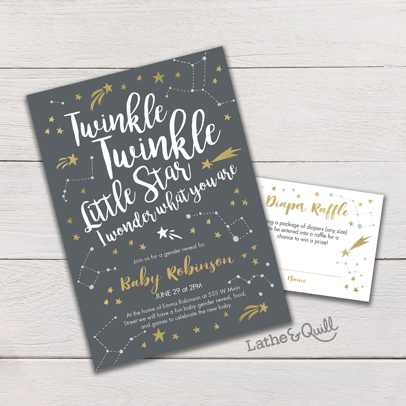 Twinkle Twinkle Little Star Gender Reveal is a cute way to start the baby celebrating process and keeping friends and family connected with this new milestone in your life.