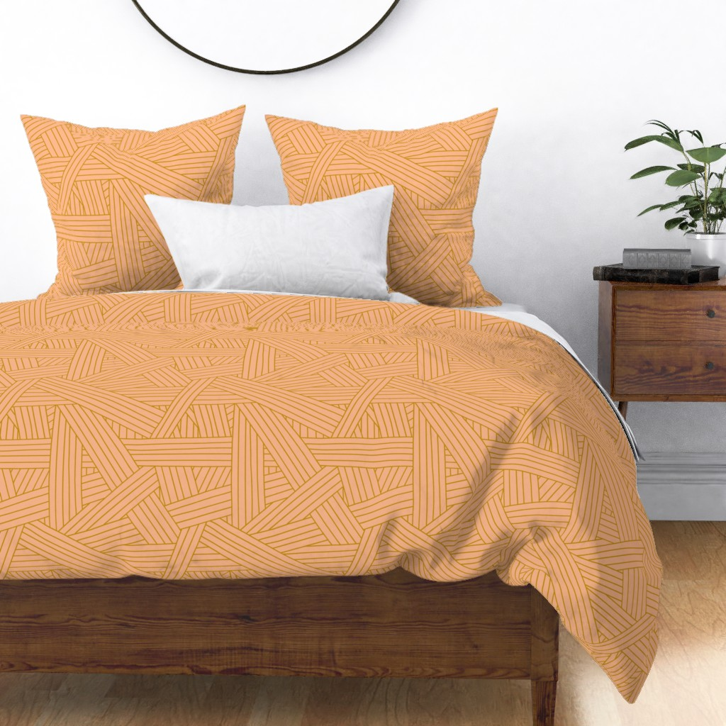 Blush pink counts as a neutral right? love this bedding in pink and gold for redressing up my bedroom
