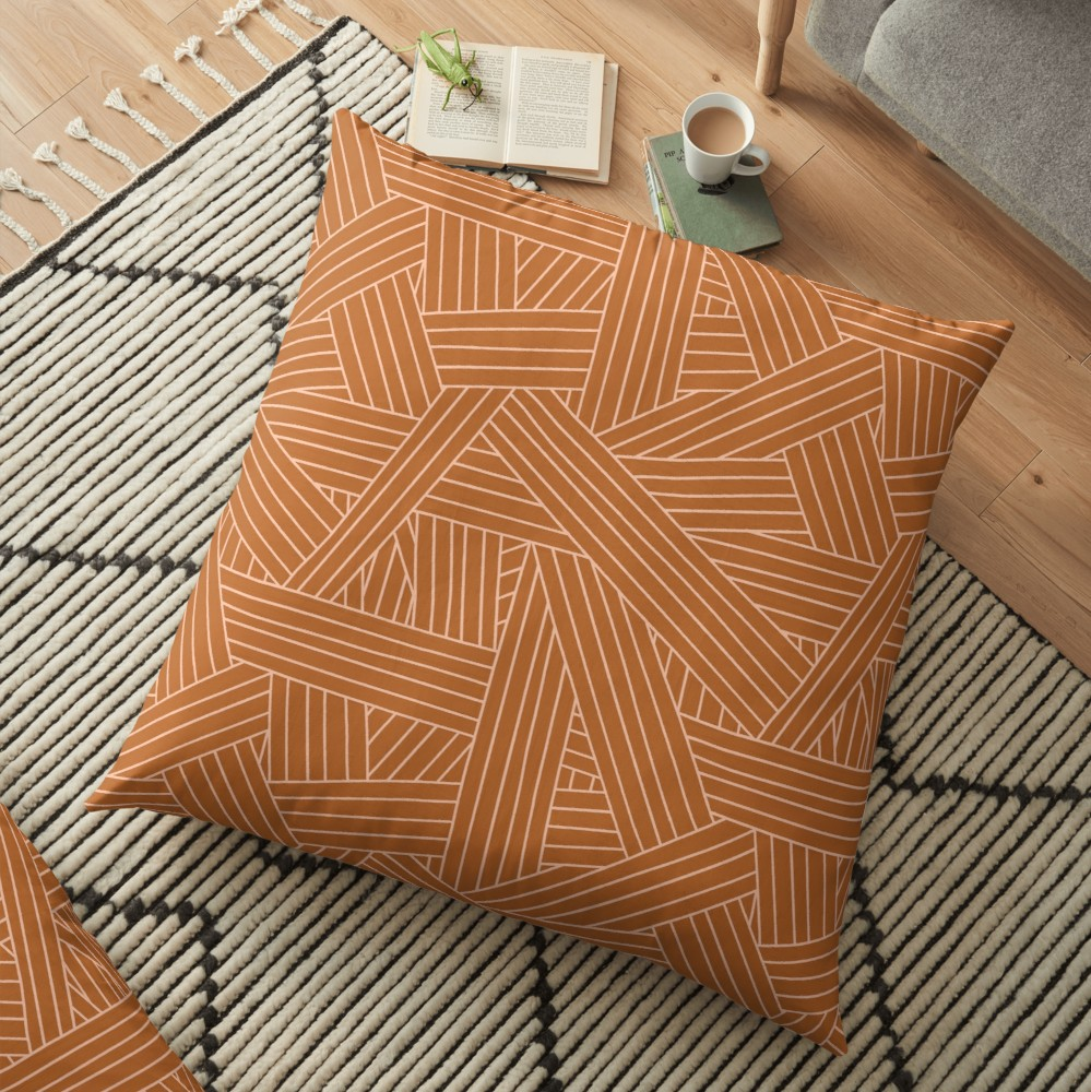 This neutral pattern is great for any season and any home to give a relaxed retreat-like feel.