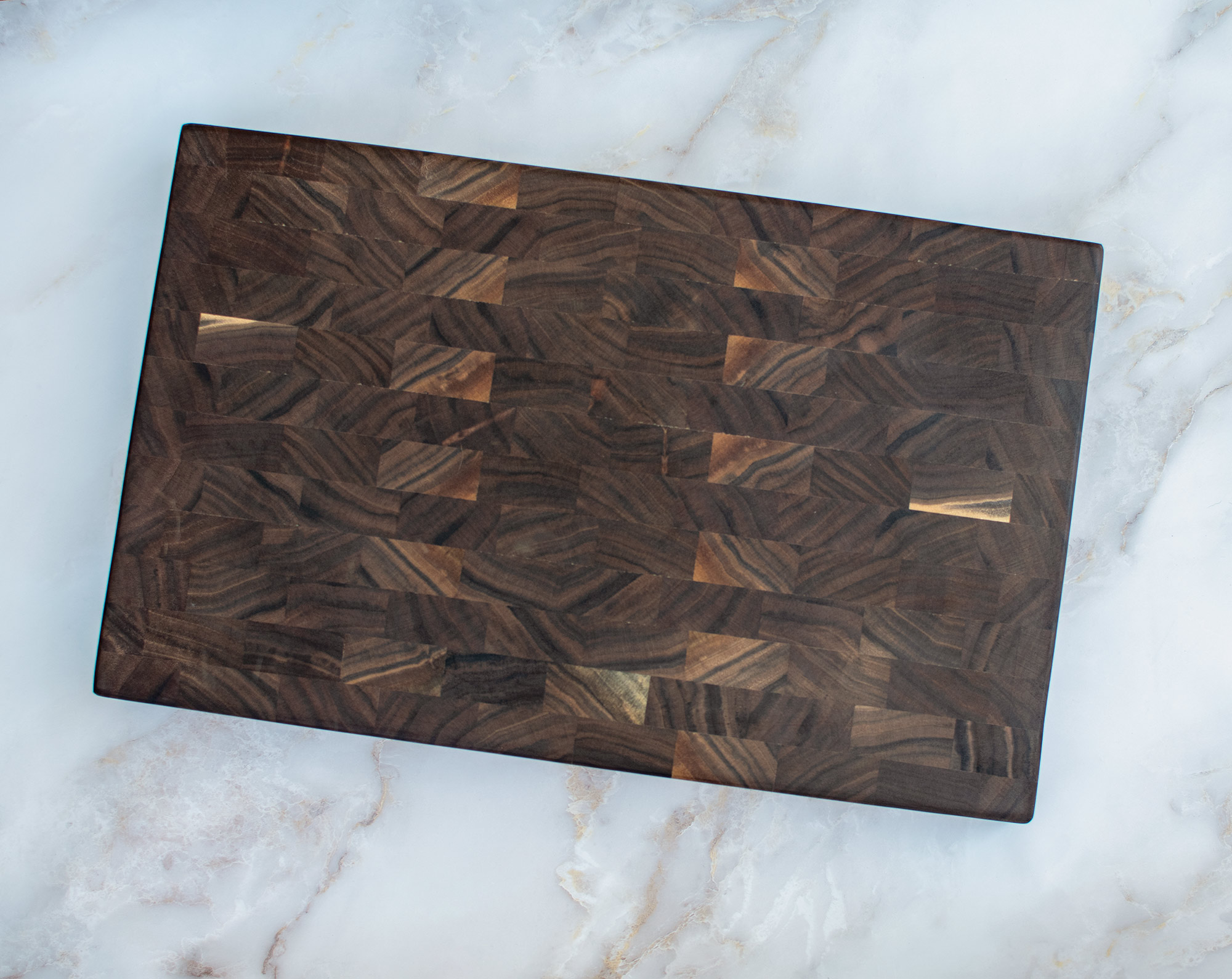 End Grain Black Walnut Cutting board made from locally harvested trees eco friendly
