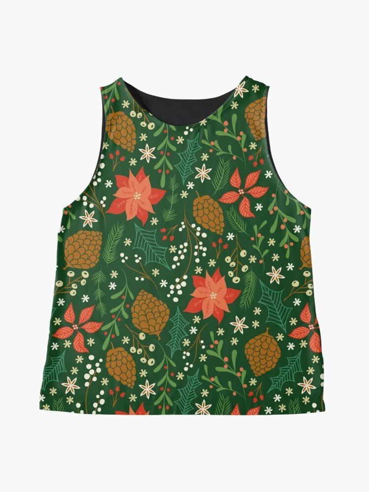 Christmas themed blouse great for ugly sweater party or any holiday themed event - pair iwth a red or green blazer