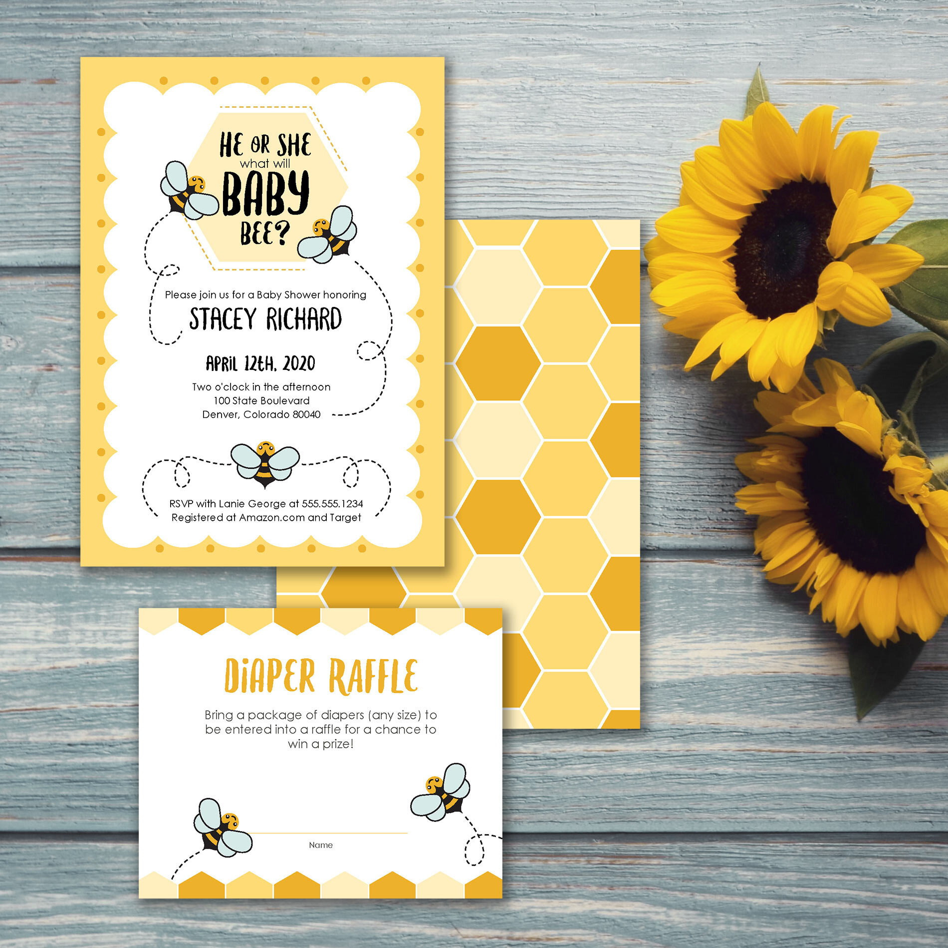 He Or She What will baby bee? Bee themed gender reveal or gender neutral baby shower. Getting ready for a new baby to appear in your life is just as important the first time around as it is for baby 2, 3 or more.