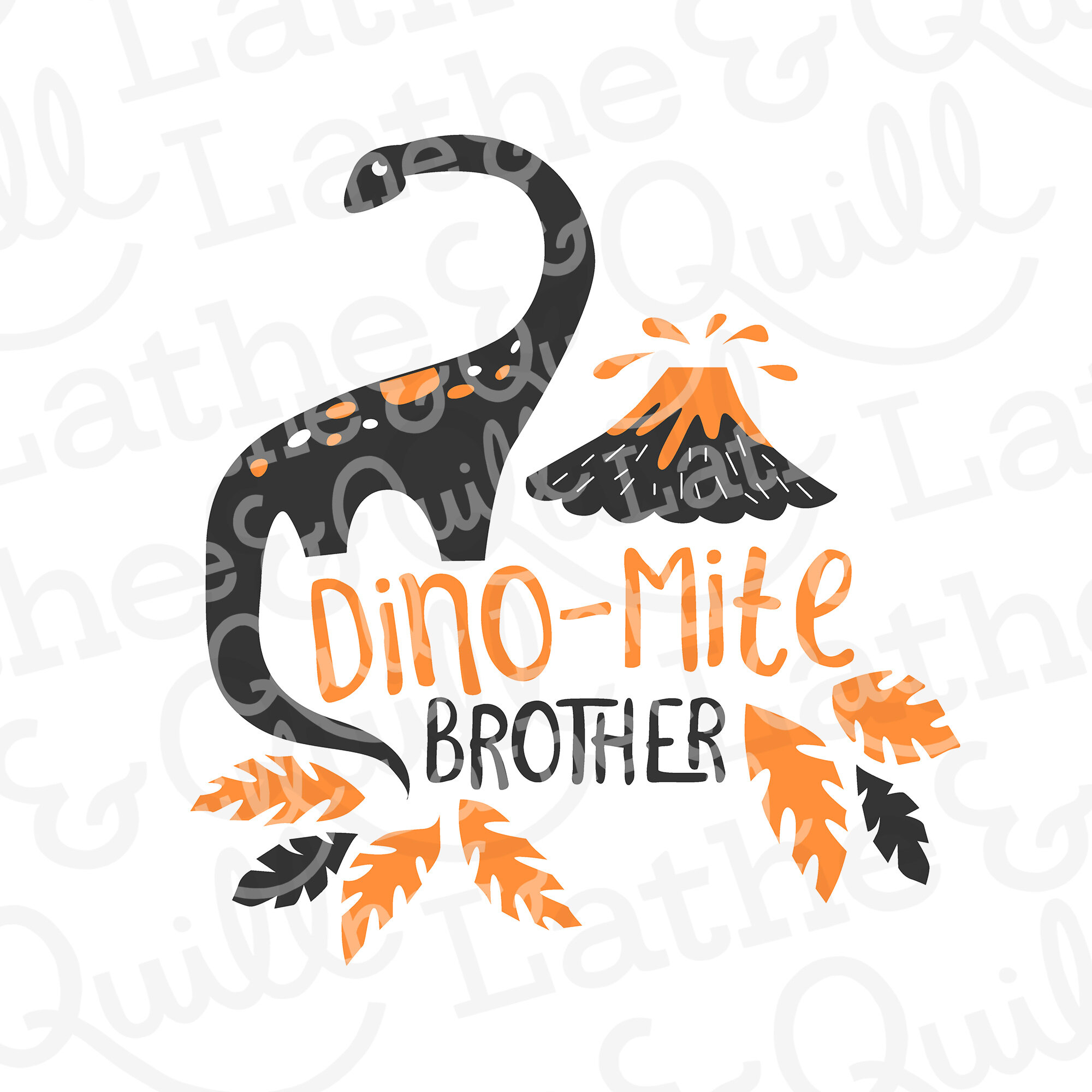 Dino-mite Brother SVG file for Cricut and Silhouette Design Studios to make artwork for tshirts and more.
