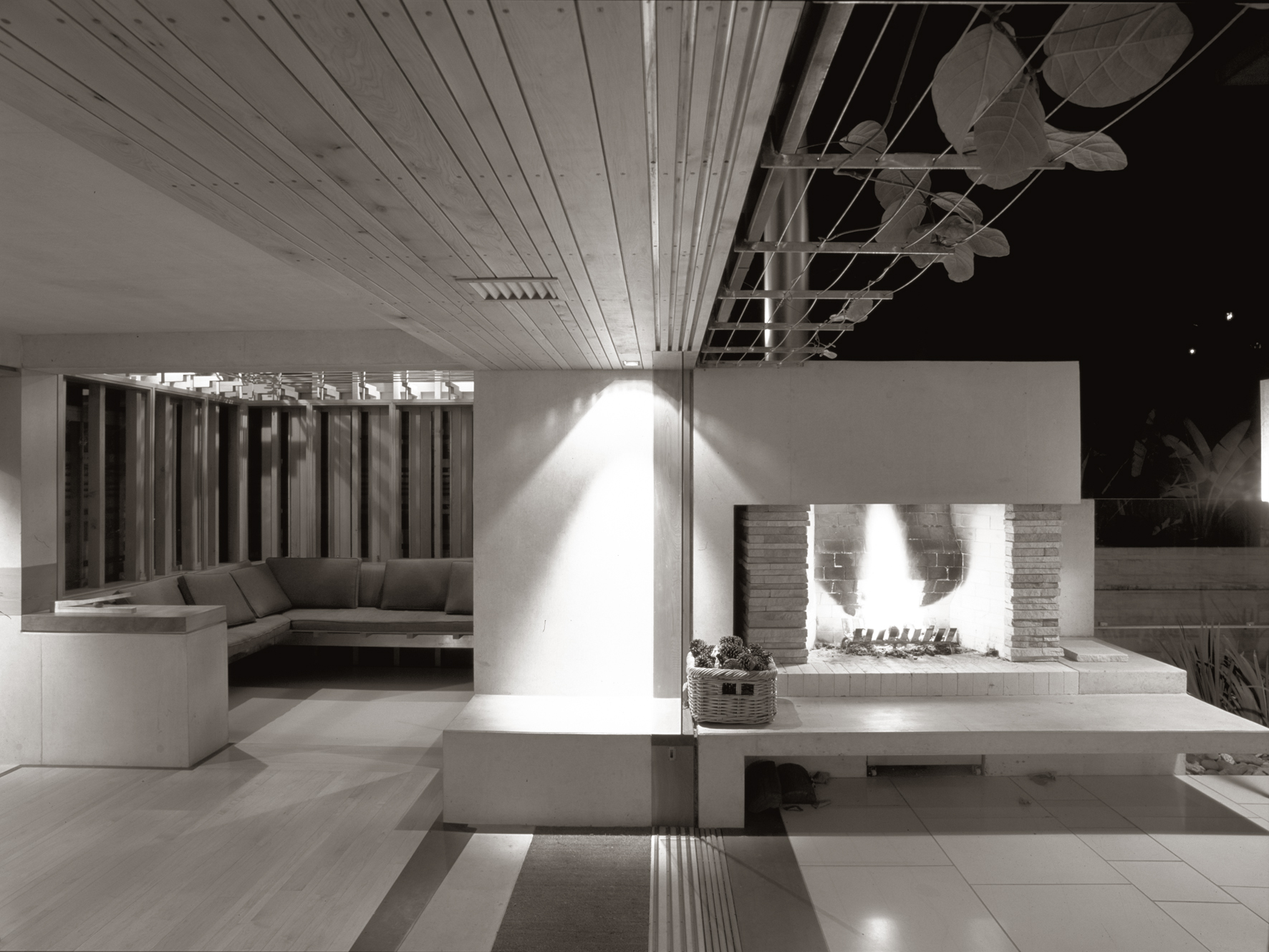 C House_TLinkins_Tea Room + Fireplace B&W.jpg