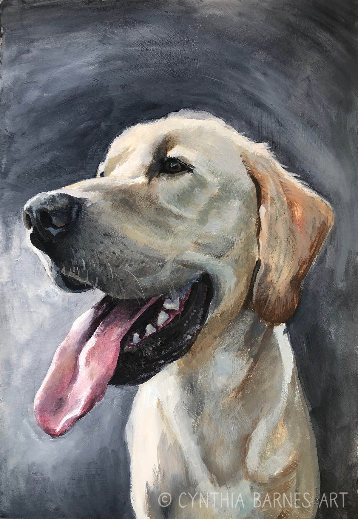 Lara's Yellow Lab - >> Order Print