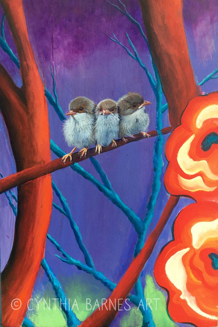 Baby Birds Panel - >> Order Here