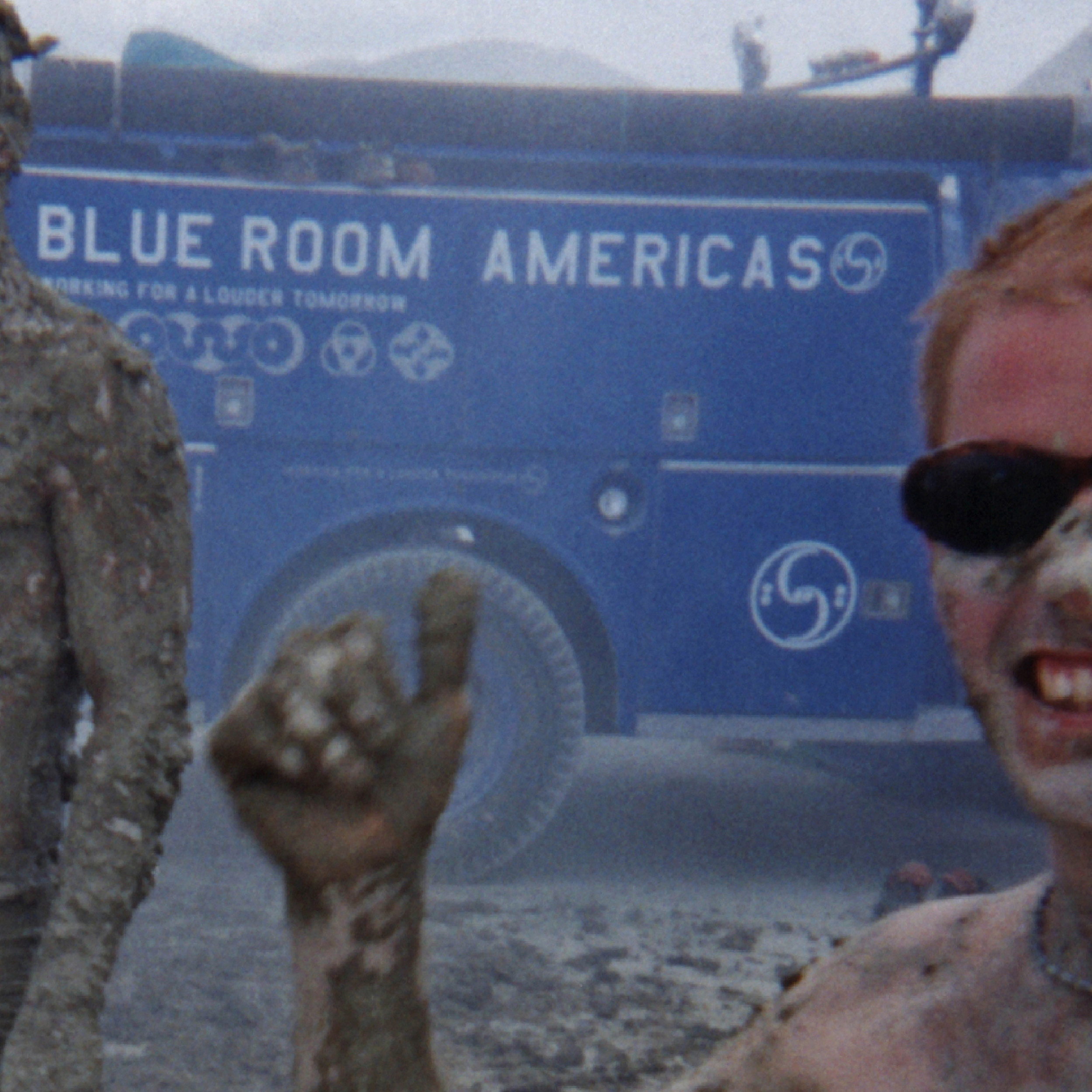 Blue Room Americas Fire Truck - 1998 Burning man, Nevada USAno better way of raising musical awareness at burning man than a bright blue fire truck