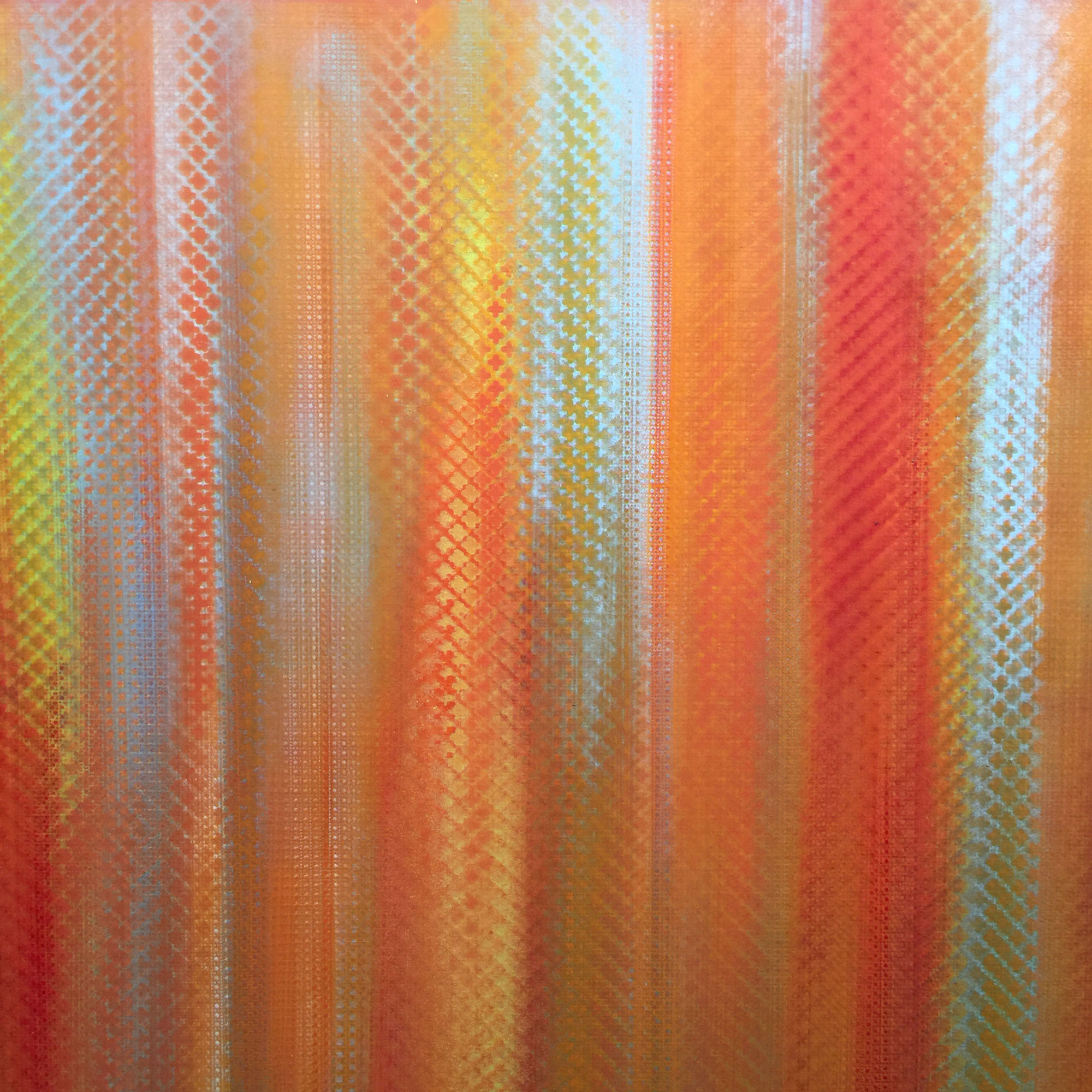 Orange Sunshine - 2016 ACRYLIC & HAND POURED CLEAR RESIN