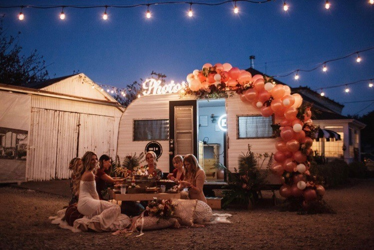 Photography by Leon Villagomez, Design & Coordination (and balloons) by Above and Beyond Creations, Venue by Ferndale Airbnb, Floral Design by Haggerty Designs, Dress Designs by Juniper Sparrow Designs, and Catering by J Catering  .