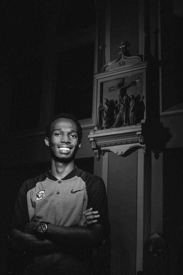 Ismail Ntakirutimana, one of our Imana Kids now attending Creighton. Photo by Omaha Magazine Staff.
