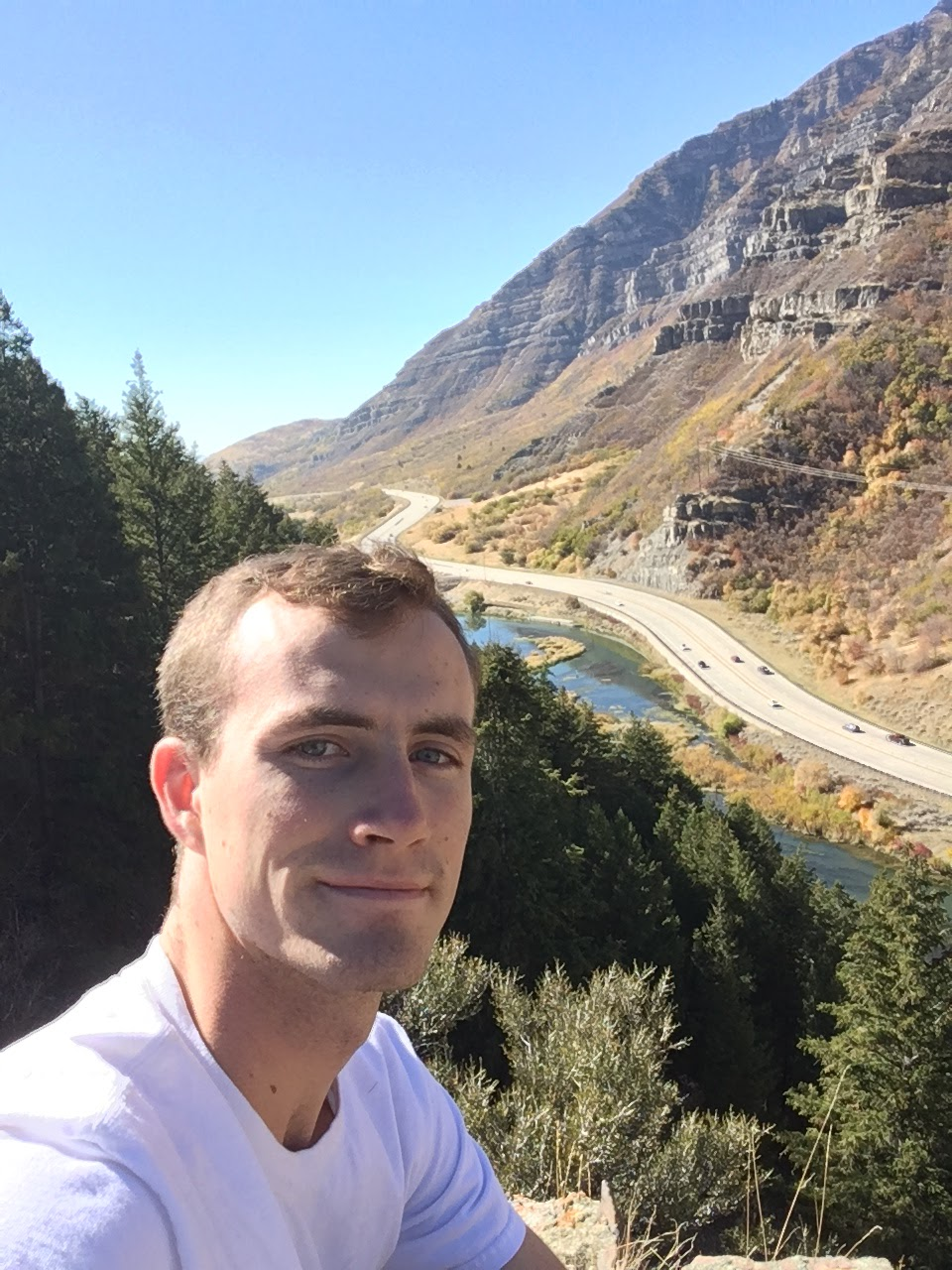 Man at Canyon Overview