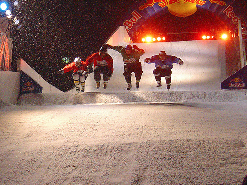Crashed Ice Starting of the race