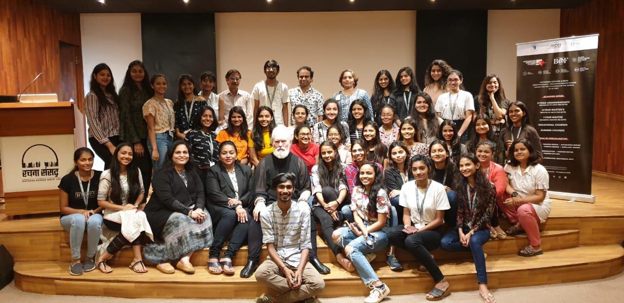 Minerva And Acm S Visit To Rachana Sansad Minerva Italian Education Hub In India
