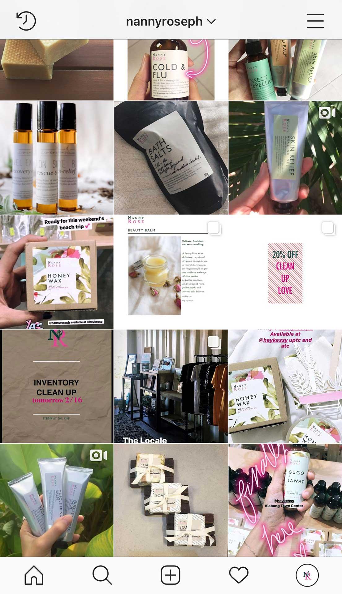 Instagram feed (before)