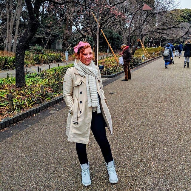 . #japan #winter #trenchcoat #superdry #timberland #timberlandboots #tokyo #vacation #holiday #japantrip #japantrip2018 #park #instagood #instadaily #ootd
