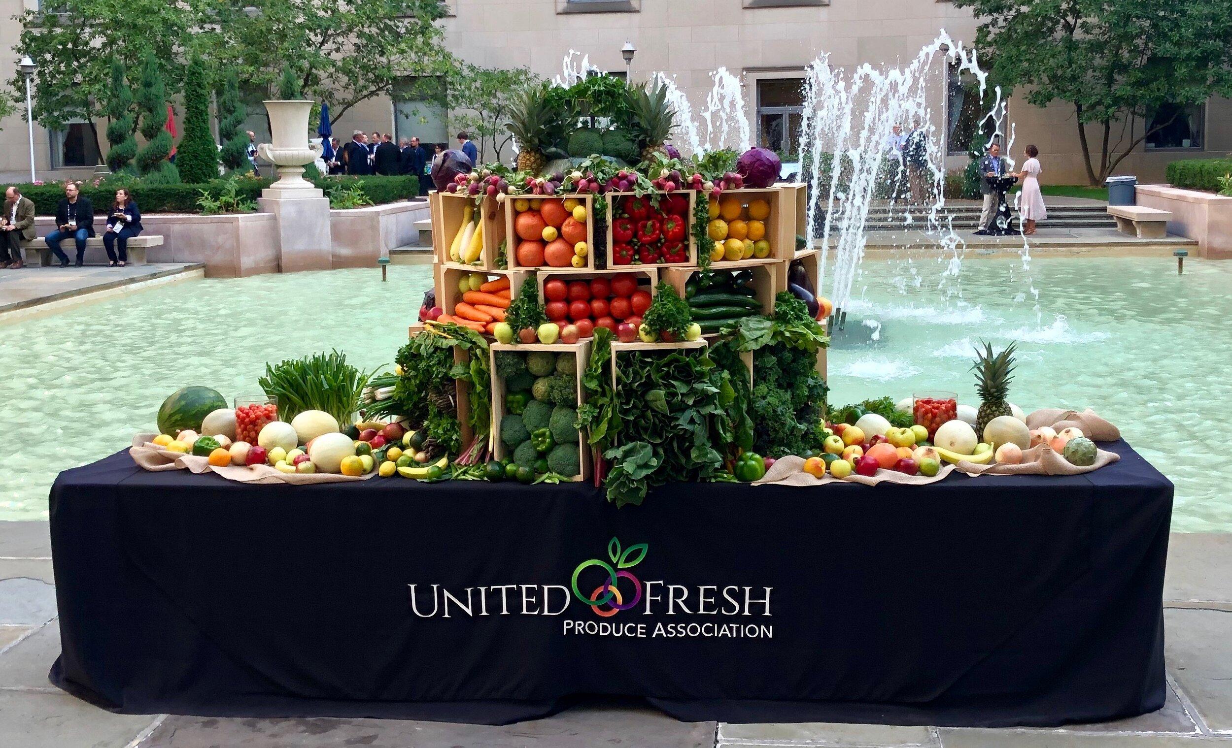 A beautiful focal piece by United Fresh Produce Association