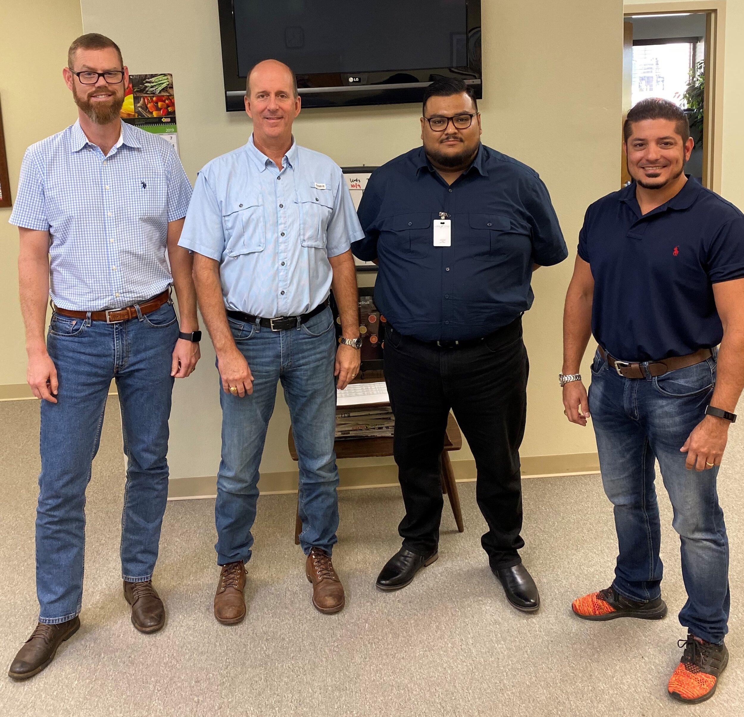 Pictured above is Paul Stofberg (CEO - Prophet North America), Chris Eddy (Assistant Operations Manager - Lone Star Citrus Growers), Giovanny Ramirez (Implementation Consultant - Prophet North America) and TJ Flowers (VP Operations & Sales - Lone Star Citrus Growers).