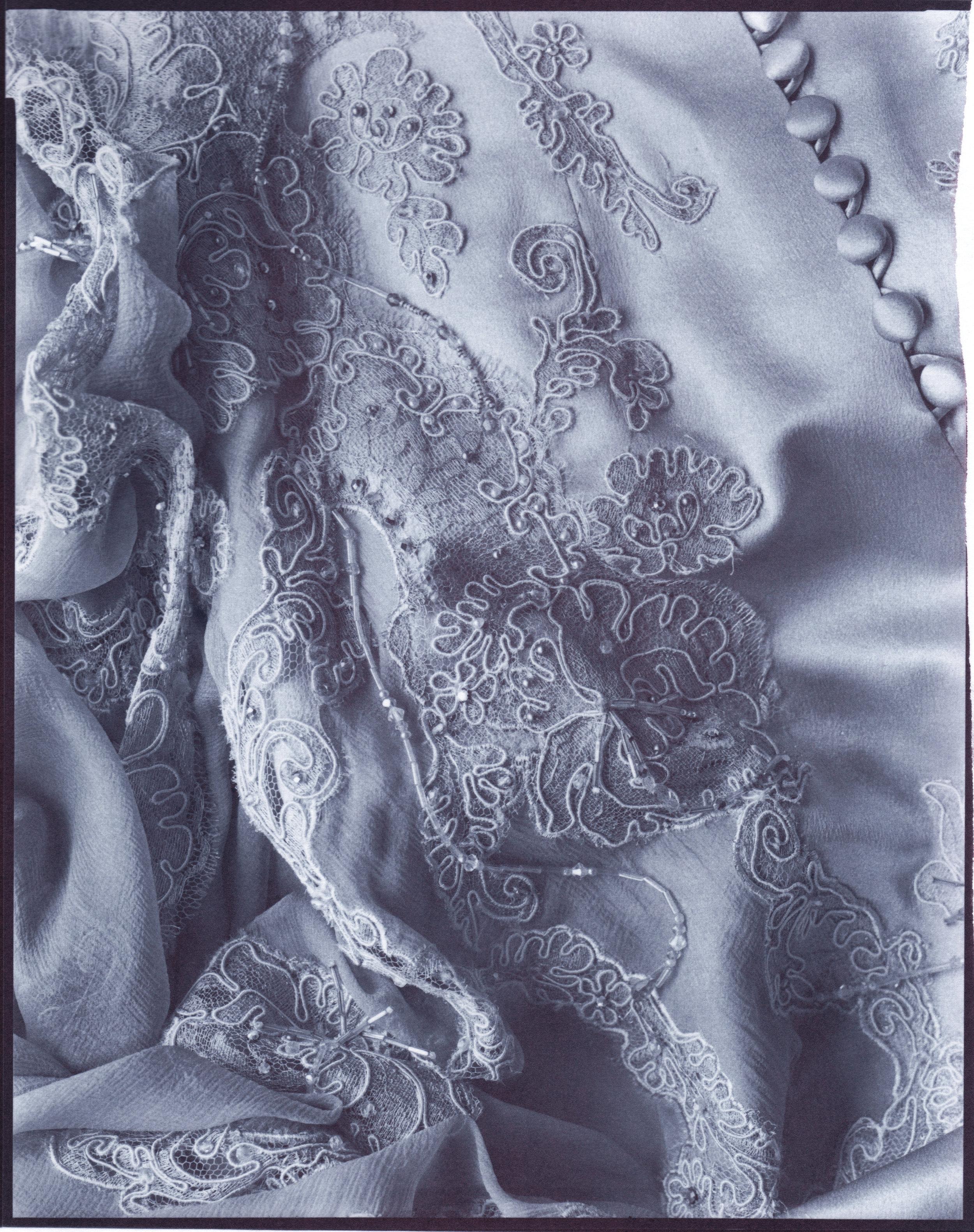 "- Dress Detail. Chrysotype print. 8x10"" 2019"