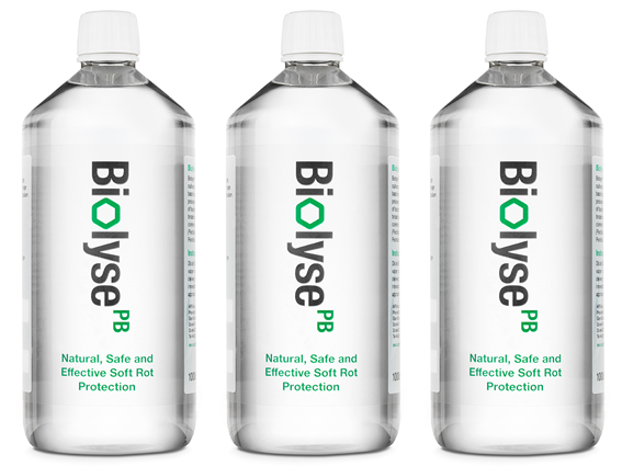 Biolyse: smart bacteriophage mixes - APS' flagship product, Biolyse-PB is a food-processing aid for the potato-packing industry, reducing shelf-life failures and helping businesses across Europe move away from the reliance on chemical biocides. The technology can be applied to any bacterial pathogen/contaminant situation and we have a pipeline of products across the agricultural and horticultural sectors.
