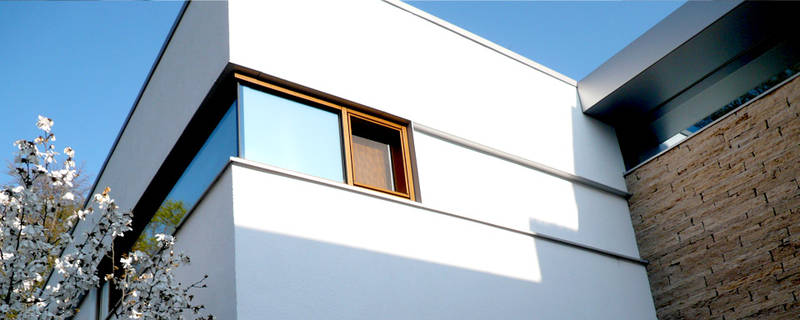 Fassadengestaltung eines Privathauses