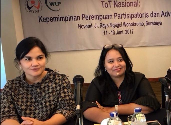 Hari Putri Lestari with Erma Susanti