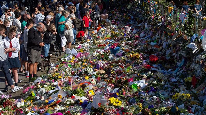 Floral tributes were seen at the Botanical Garden in Christchurch, New Zealand. Photo Credits: Marty Melville/AFP