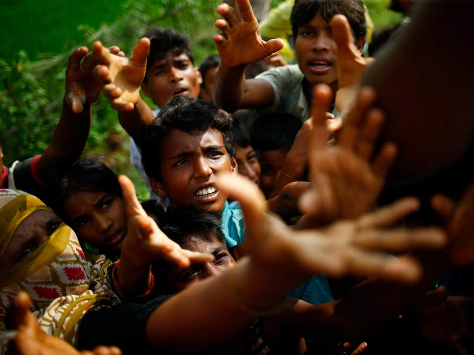 Rohingya refugees fleeing to different parts of the world amid persecution. Photo Credits: Mohammad Ponir Hossain/Reuters