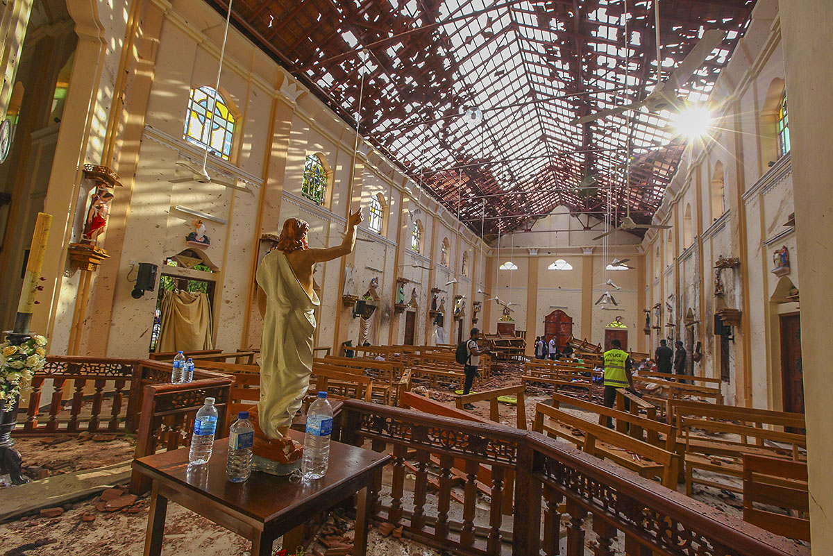 Attack on churches in Sri Lanka. Photo Credit:  Chamila Karunarathne/AP Photo