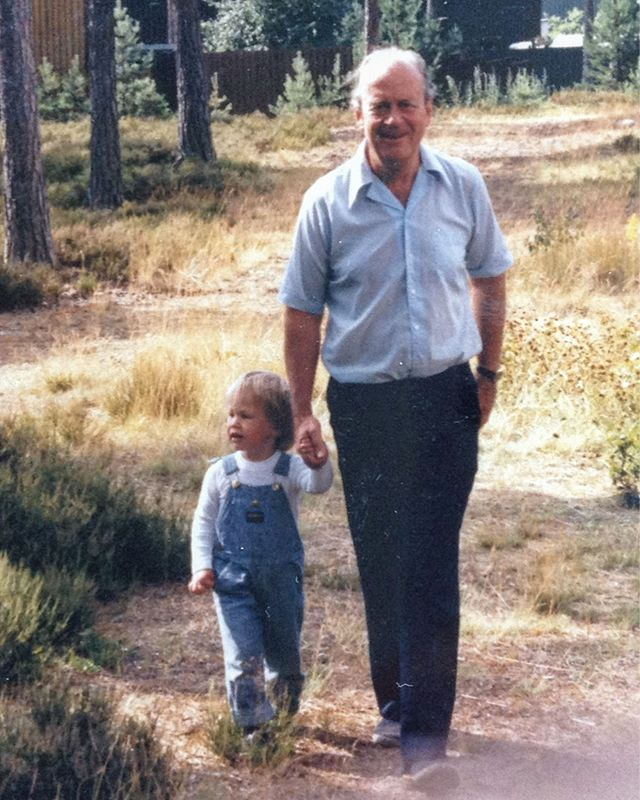 Jag och morfar.