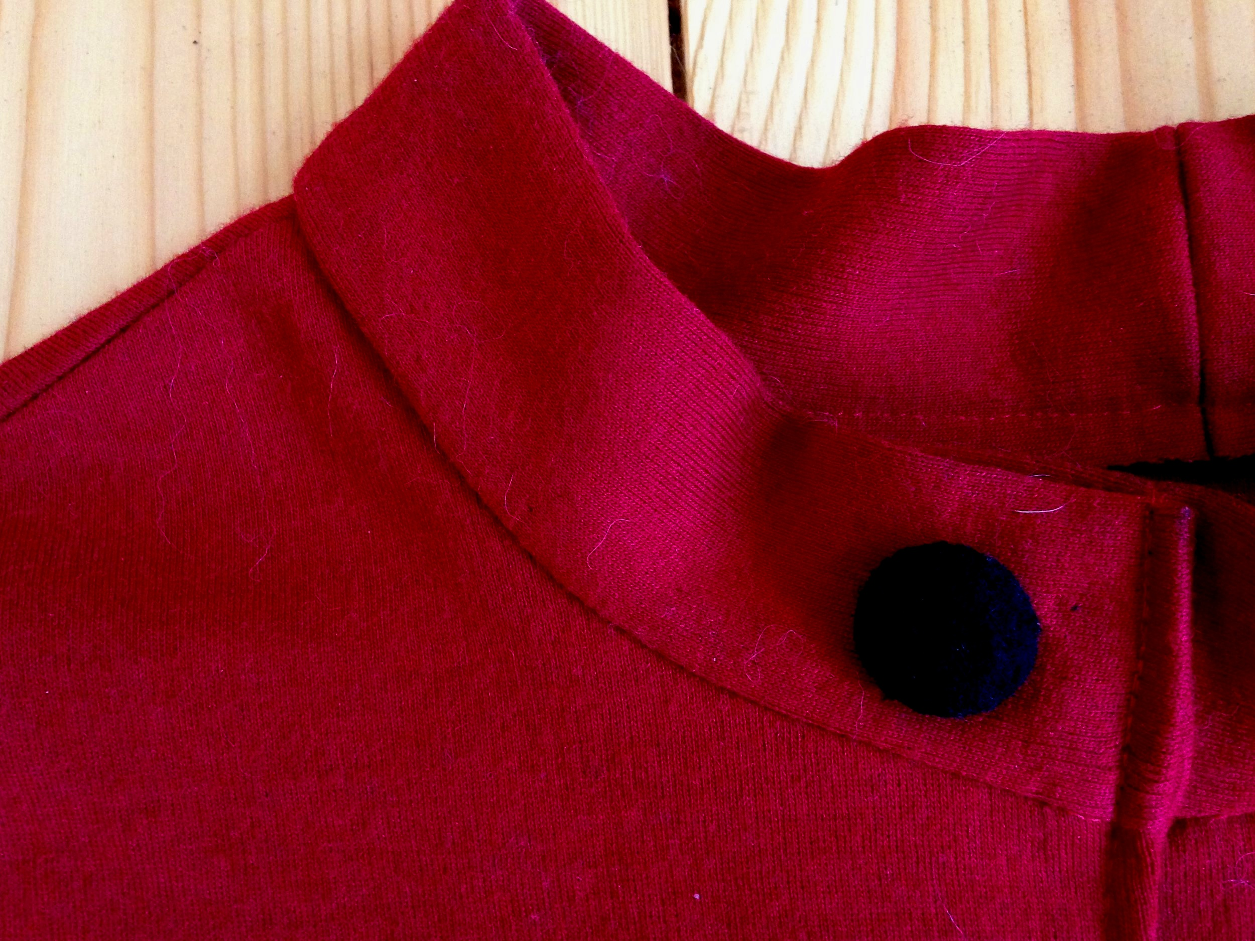 Roter Pullover Knopf-Kragendetail.jpg