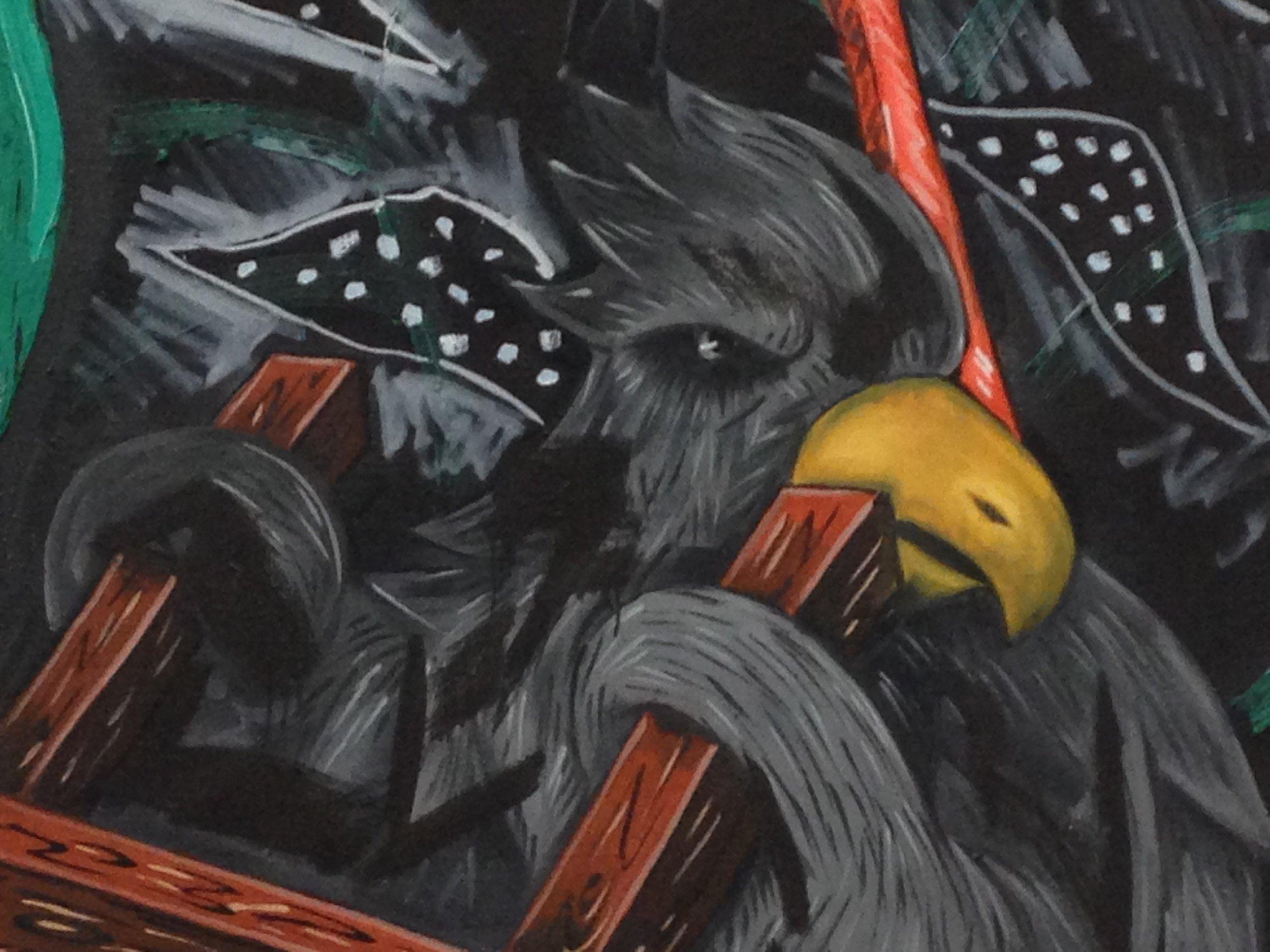 'Painter as Canvas', Detail.