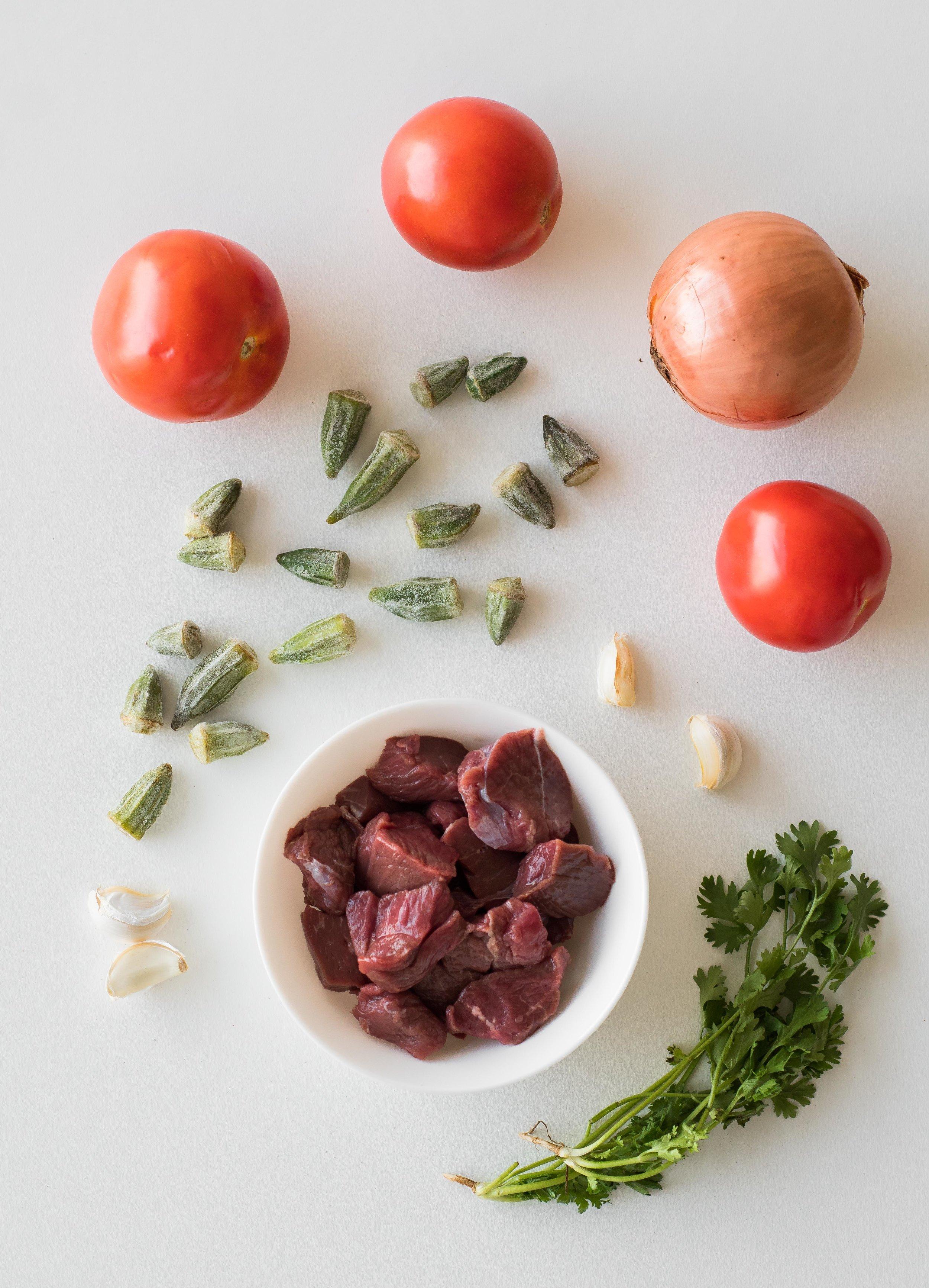 Ingredients for  bamiyeh