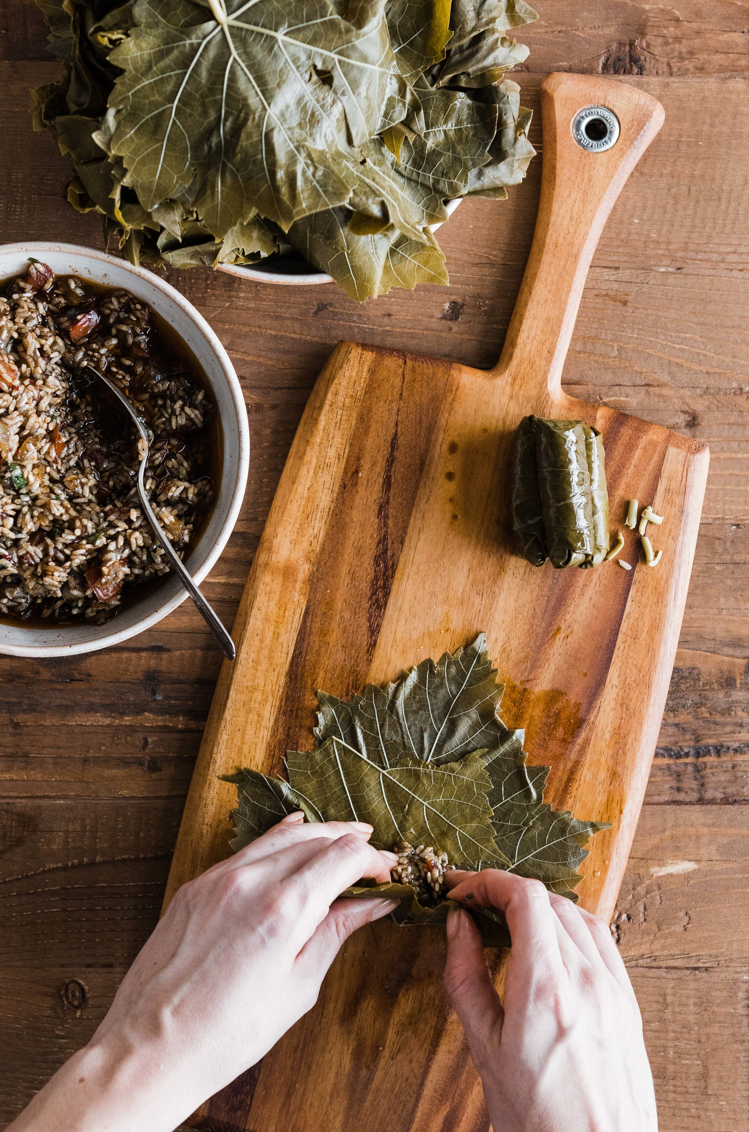 Vegan Series Yalanji Stuffed Grape Leaves Omayah Cooks Syrian Recipes Photography By Omayah Atassi