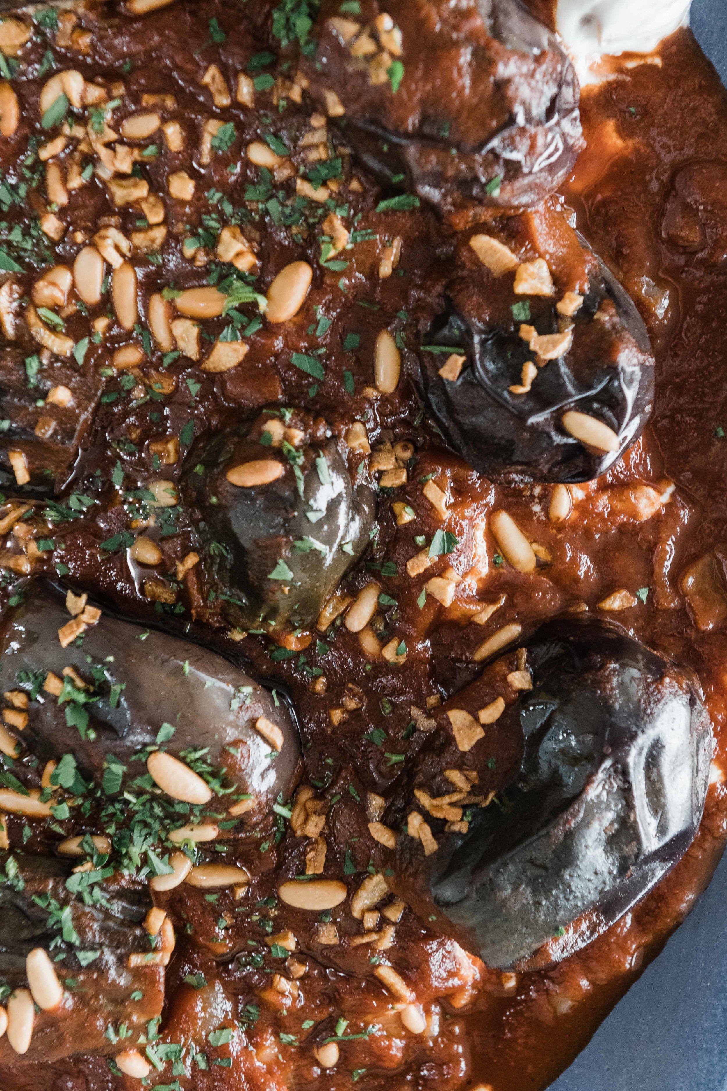 Fattet Makdous, Eggplant Fatteh