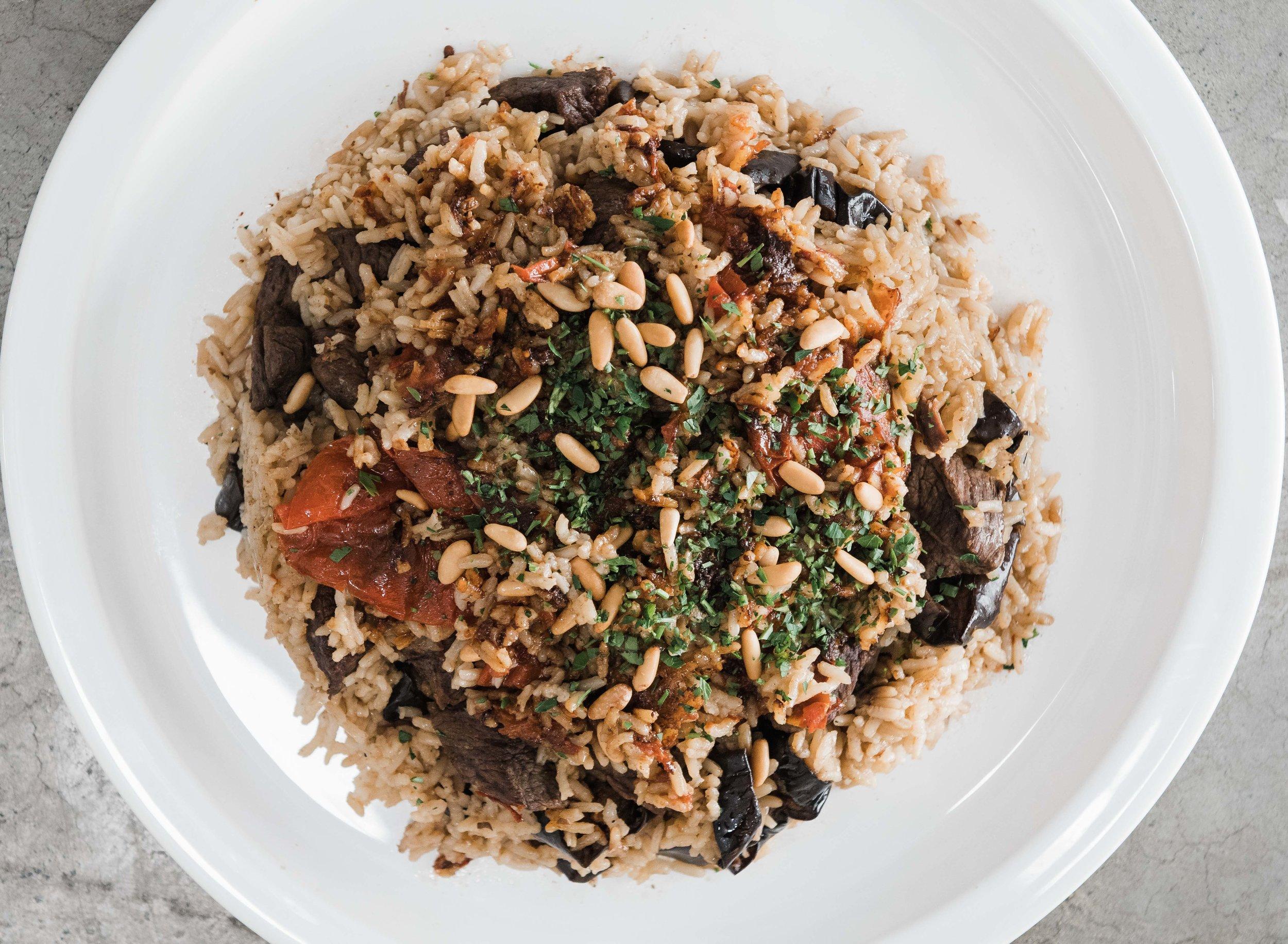 Eggplant Makloubeh