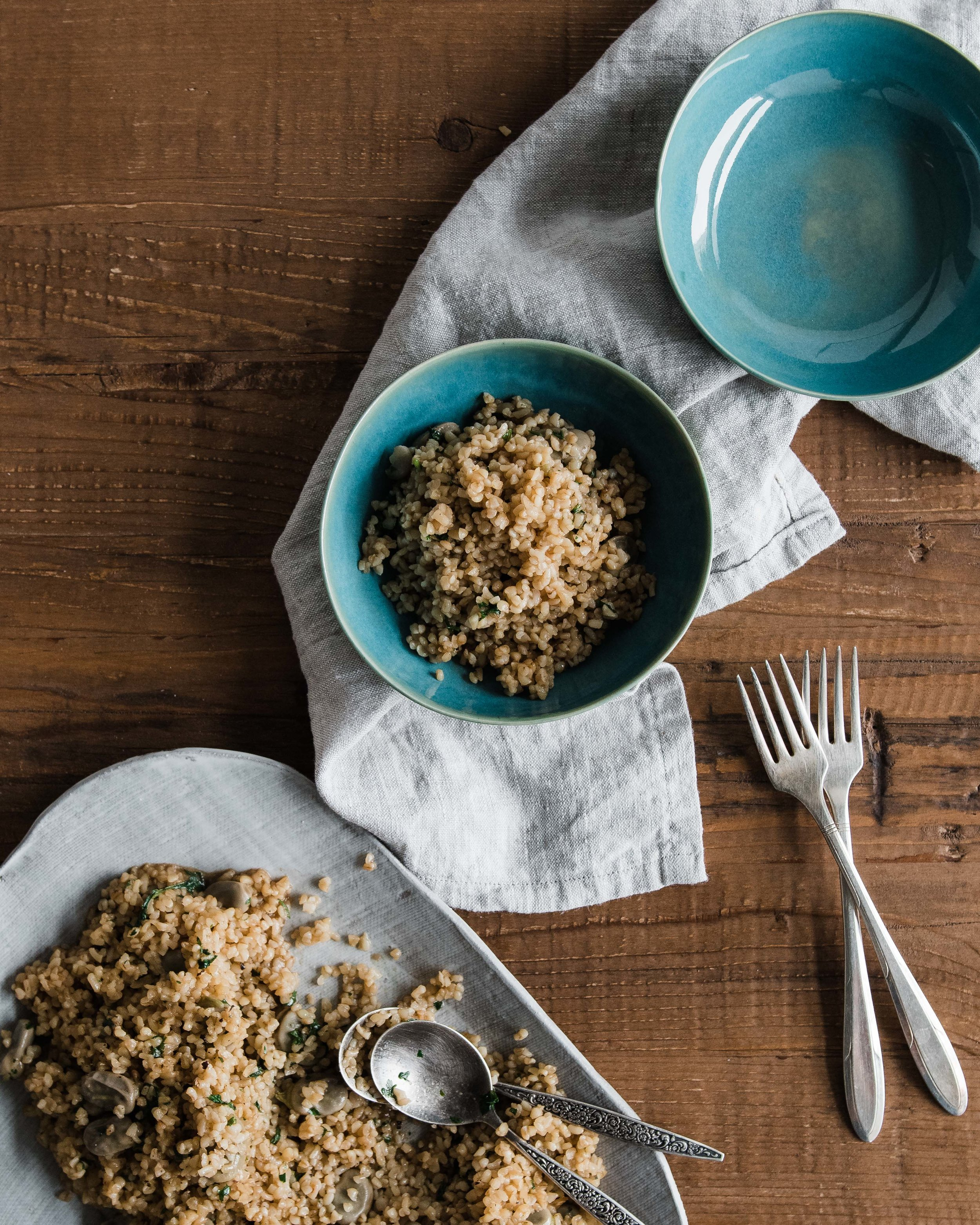 Fava Bean and Bulgur Pilaf (Bulgur ou Foul)