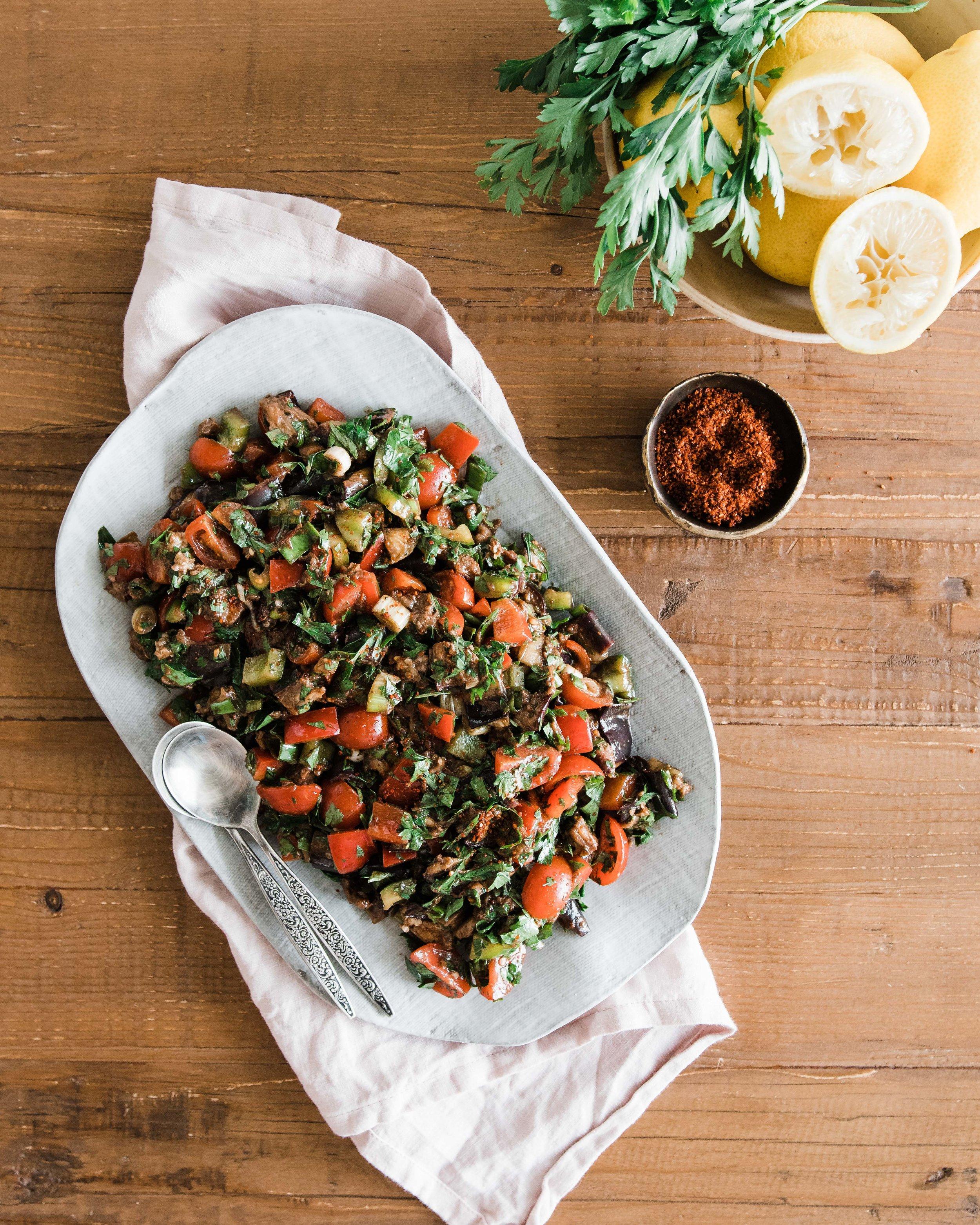 Syrian Eggplant Salad
