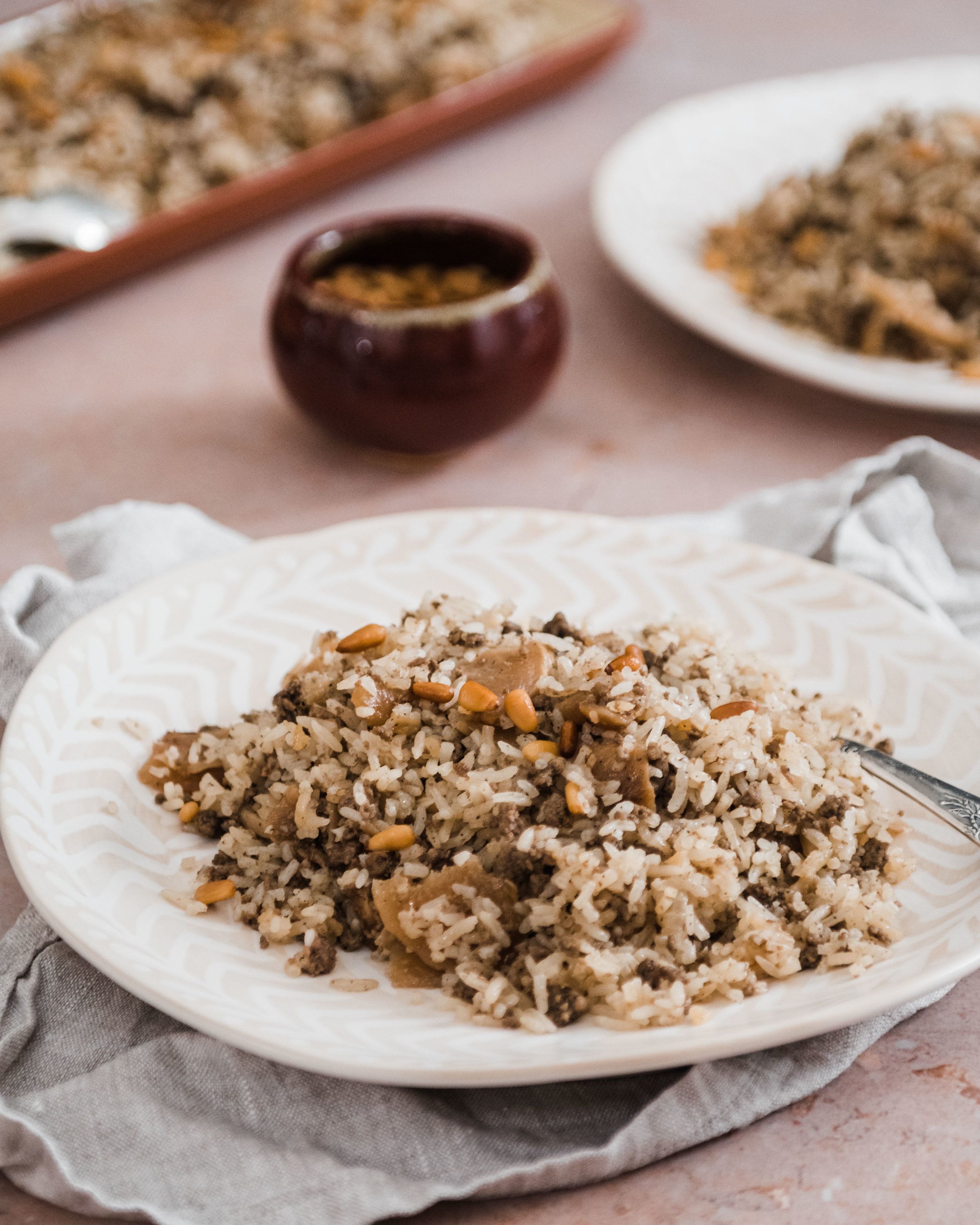 Shelbato (Kohlrabi with Ground Meat, Rice and Pine Nuts)