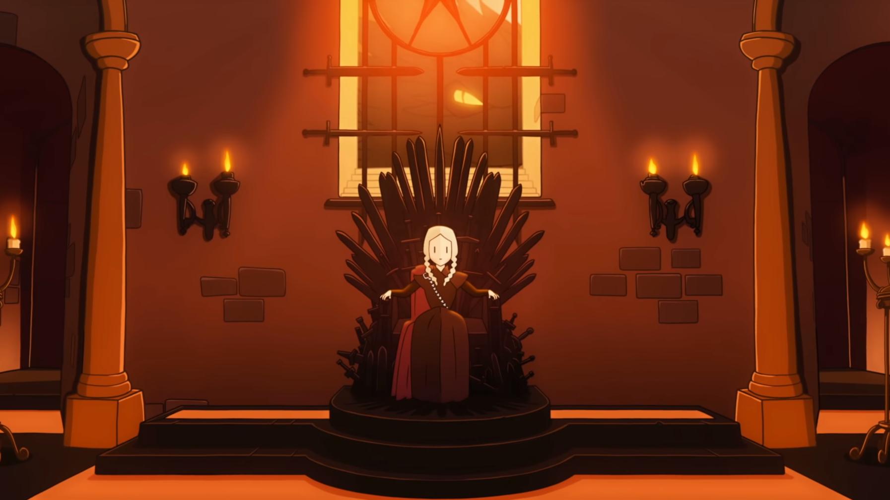 Foto: Skjermdump fra traileren for «Reigns: Game of Thrones»