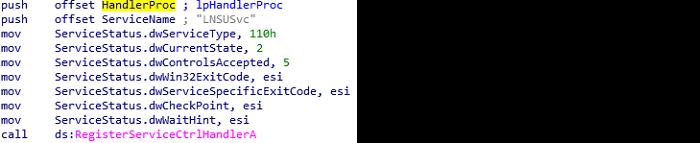 Figure 1: Registering the handler function