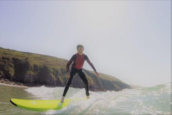 teenager surfing activity