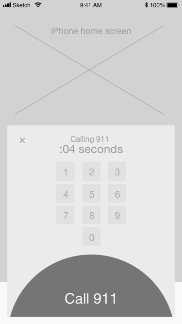 CALL 911: The button will pulse the same way it does in the native app to send a confirmation signal to users.