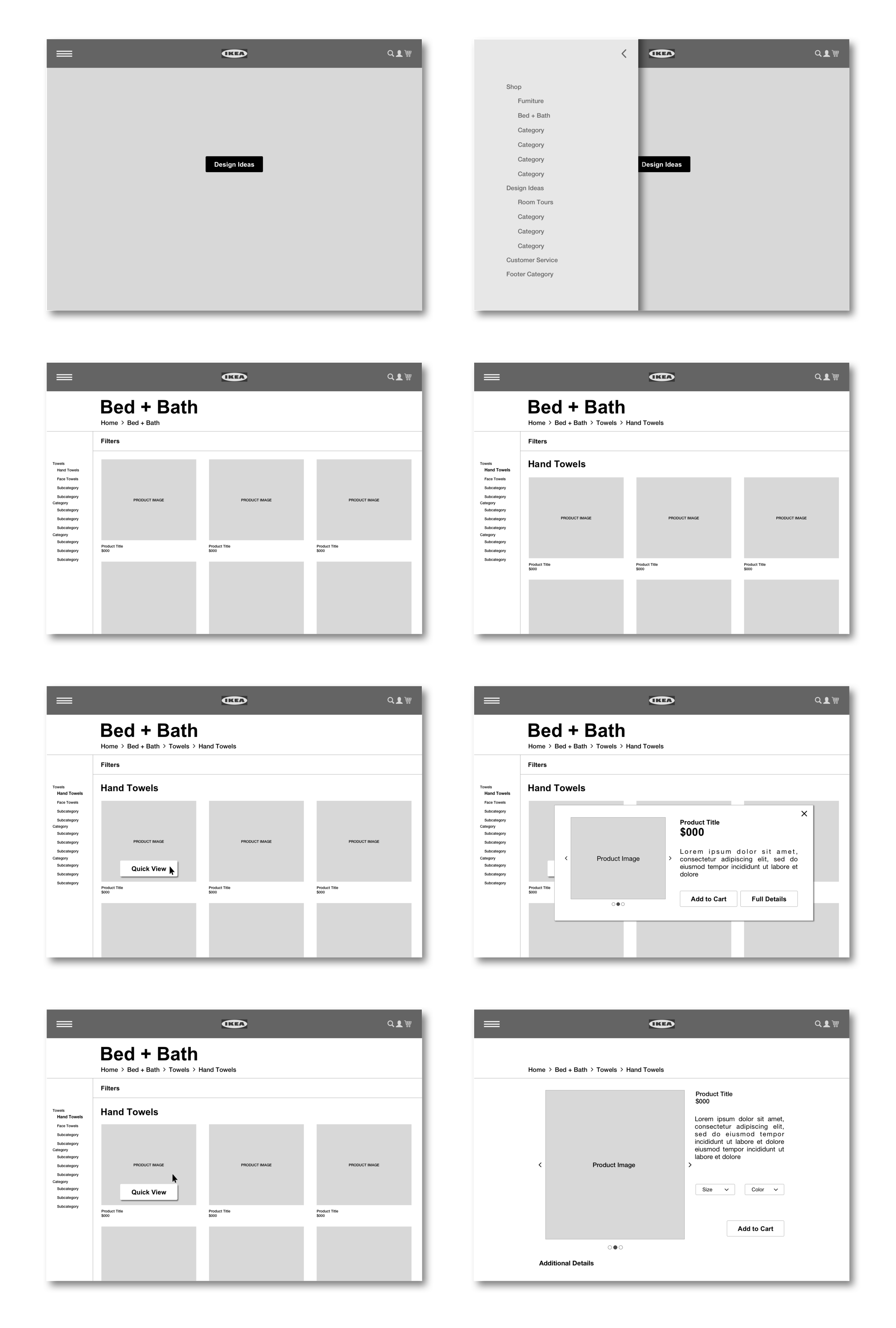 Wireframes Version 1.5