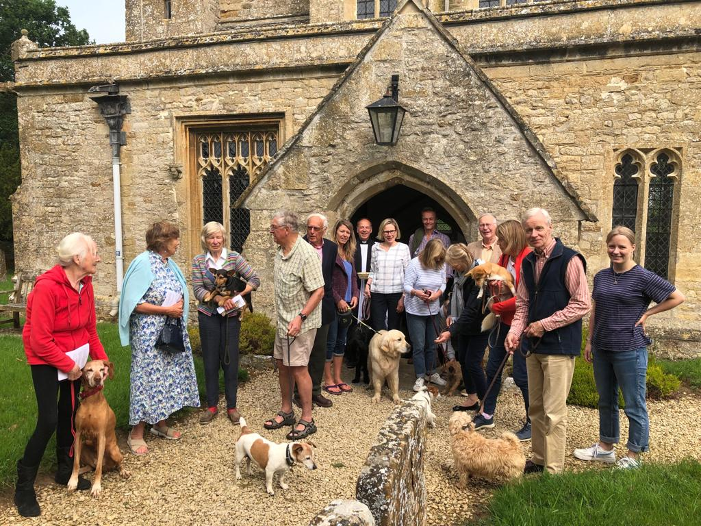 The Wet Nose Service (Dog Service) at St Leonards, Bledington was attended by several well behaved dogs and their owners. The service led by Revd Stephen Blake celebrated 'All Creatures, Great and Small'.