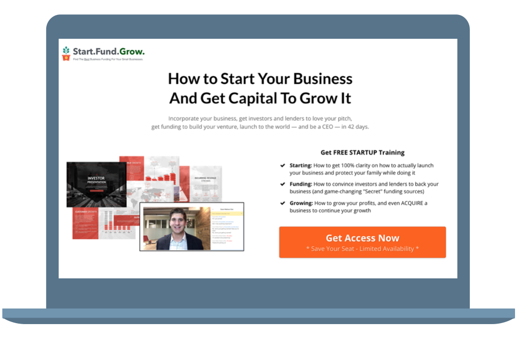 "GET THE VIDEO TRAINING - ""THE 5-STEP PROCESS TO RAISING CAPITAL FROM ANGEL INVESTORS AND VENTURE CAPITALISTS"""