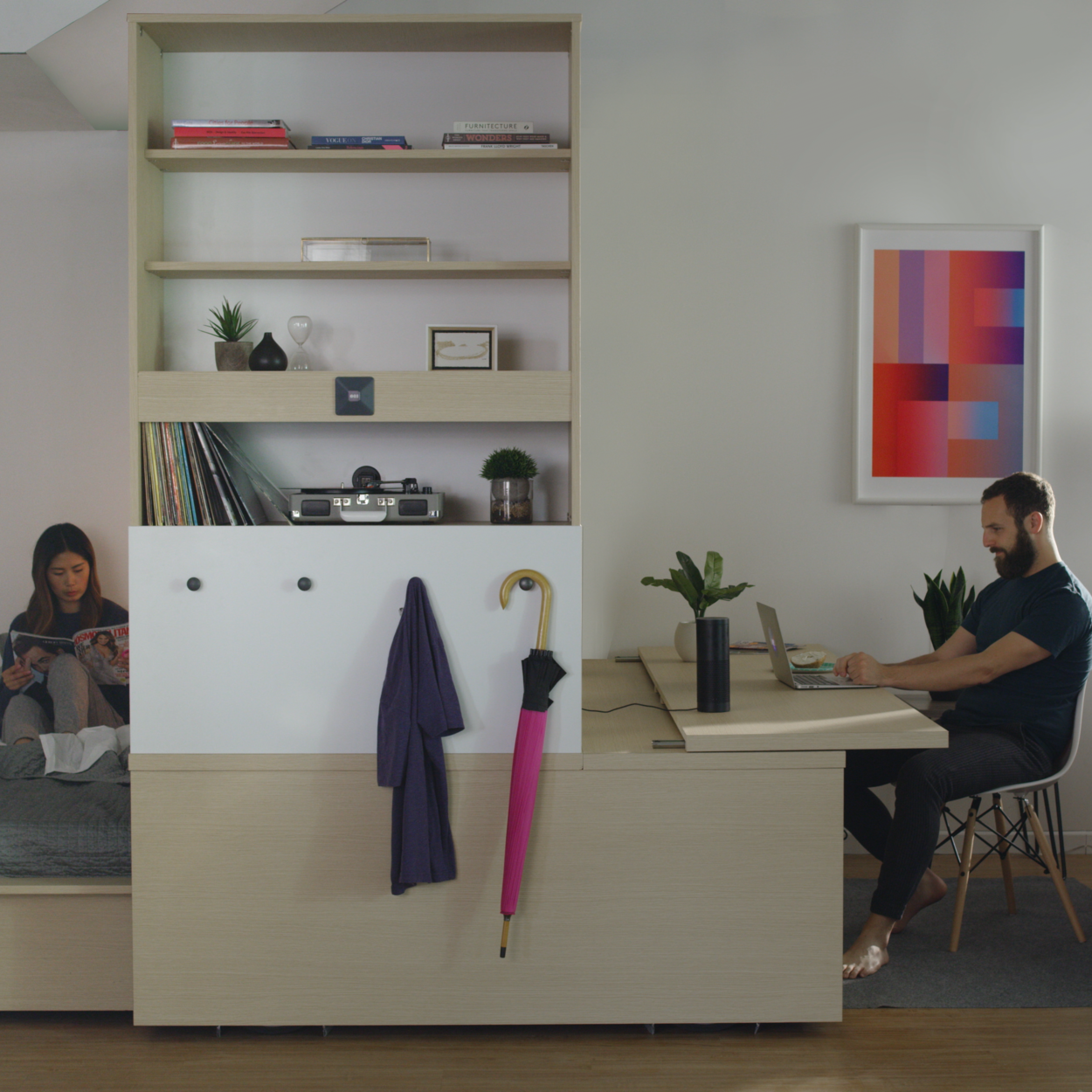 Ori Studio Suite - The Ori Studio Suite simulates the functionality of multiple rooms in a single, small, efficient space.